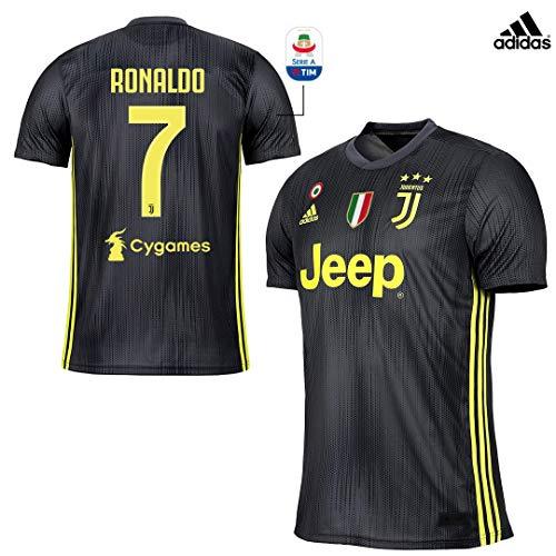 Serie Coppa Incluse Ronaldo 19Originale 2018 Bambino Maglia E Sempre Patch A Scudetto Italia Juventus Gara Third wvmNO8n0