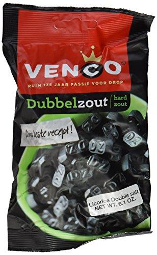 Venco Double Salt Licorice 6.1 Oz (Pack of 4) (Holland Dutch Licorice)