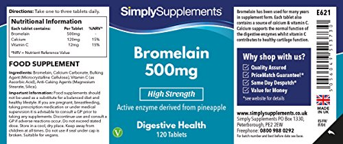 Bromelina 500mg - ¡Bote para 4 meses! - Apto para veganos ...