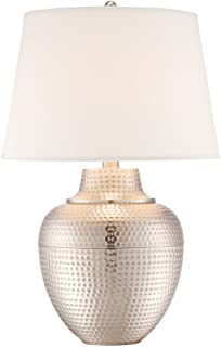 Exceptionnel Brighton Hammered Pot Brushed Nickel Table Lamp