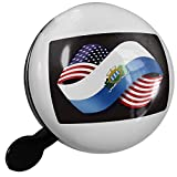 Small Bike Bell Friendship Flags USA and San Marino - NEONBLOND