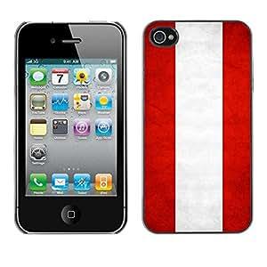 Be Good Phone Accessory // Dura Cáscara cubierta Protectora Caso Carcasa Funda de Protección para Apple Iphone 4 / 4S // National Flag Nation Country Austria