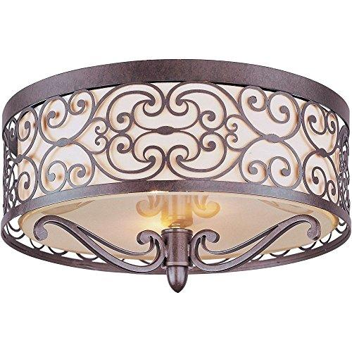 Maxim 21151WHUB Mondrian 2-Light Flush Mount Light Fixture Umber Bronze .#GH45843 3468-T34562FD397264 Bronze Umber