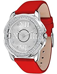 TFY Design Genuine Leather Japan Quartz Movement Fashion Womens Watch TFY1101R Trendy Look Diamond Case