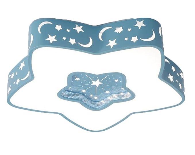 Plafoniere Blu : Lichtssrr plafoniere in ferro battuto pentagono stella moon
