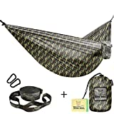 Hammocks for Camping Single & Double Hammock Bundle With Straps Included - Top Rated Gear For Backpacking Survival or Travel - Portable Lightweight Parachute Nylon DO
