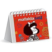 Mafalda 2018 Calendario de escritorio - Rojo (Spanish Edition)