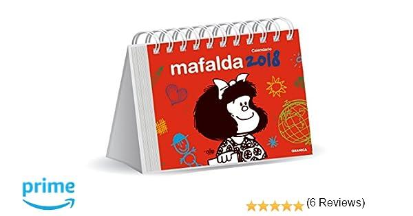 Granica Mafalda - Calendario de escritorio 2018, color rojo