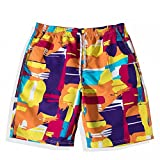 BYLE Fast Dry Beach Pants Men's Shorts Relaxed Couple Trend Swimsuit Seaside Resort Swimming Pants Set M