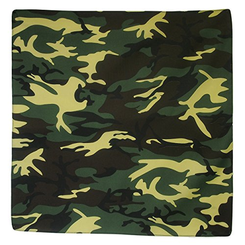 Kay's BTQ Bandanna Army Green Camouflage Fabric Texture 22'