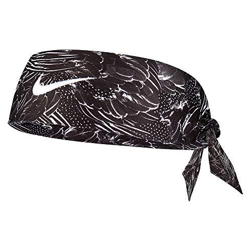 Women's Nike Printed Dri-Fit Head Tie 2.0 Black/White Size One Size (Best Nike Print Ads)