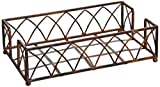 Boston International Guest Towel Caddy, Arch Design in Aged Chestnut