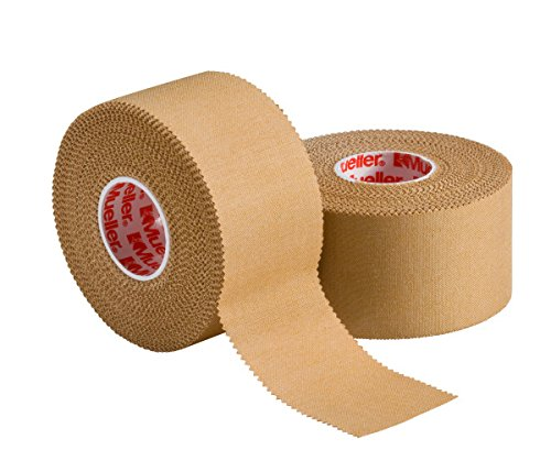 "Mueller P Tape- Beige Strapping Tape- 1.5""x 15 yard rolls- Strong, Porous, Adhesive Corrective Tape with Serrated Edges by Mueller"