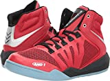 AND1 and 1 Men's Overdrive Basketball Shoe, Fabric Red/Black/Silver, 11 M US