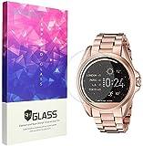 Lamshaw Michael Kors Screen Protector, 9H Tempered Glass Screen Protector for Michael Kors MKT5001 Smartwatch (3 Pack)