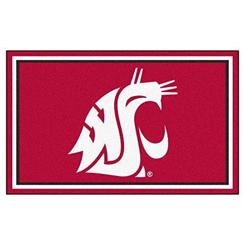 FANMATS NCAA Washington State University Cougars Nylon Face 4X6 Plush Rug by Fanmats