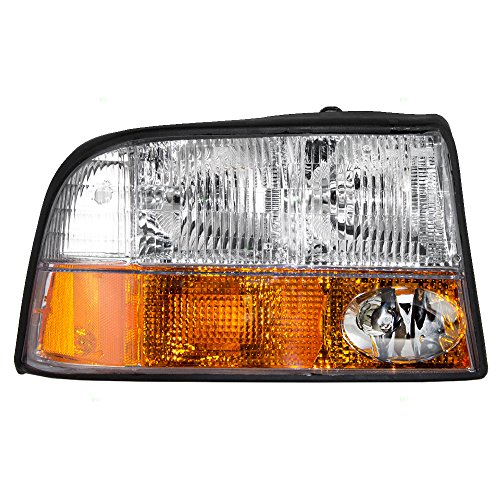 Headlight Sonoma Gmc Headlamp Truck - Headlight Headlamp with Fog Lamp Passenger Replacement for GMC 98-04 Sonoma Pickup Truck 98-01 Jimmy SUV 16526226