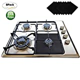 Gas Range Protectors 8 Pack - Wellvo Stove Protector Cook Top Liners Hob Burner Covers 2mm Heavy Duty Reusable Easy to Clean Non Stick BPA - PFOA Free FDA Approved Prime