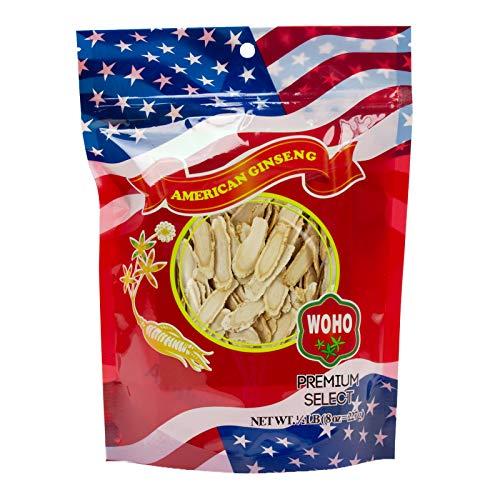 WOHO American Ginseng 127.8 Large Slice Bag 8oz