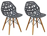 Mod Made Modern Stencil Cut Out Eiffel Dining Side Chair (Set of 2), Dark Grey Review