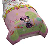 Disney Minnie Mouse Bowtique Garden Party 64'' x 86'' Reversible Twin Reversible Comforter