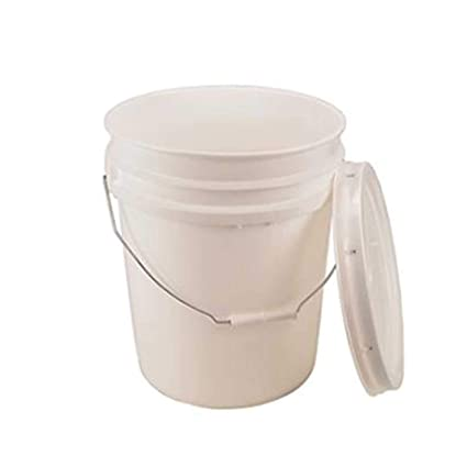 Amazoncom 5 Gallon White Bucket Lid Durable 90 Mil All Purpose