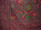 Sunflower Print Tapestry Cotton Bedspread 108'' x 88'' Full-Queen Cranberry
