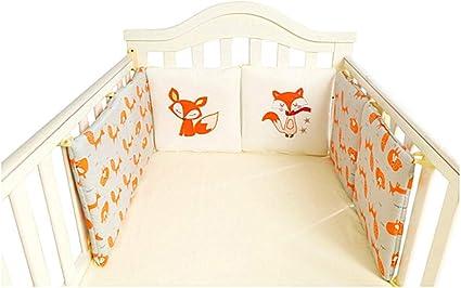 Set of 4 Nursery Baby Bassinet//Crib Bedding Bumper Kids Safety Cushion Animals
