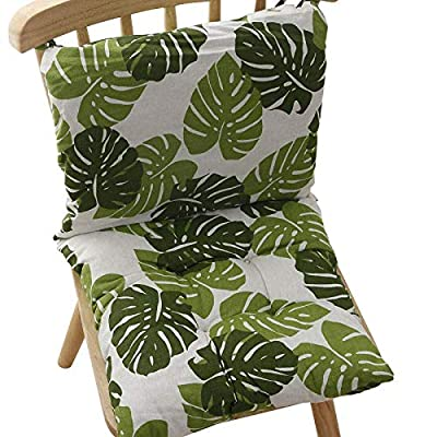 homelovely 2 Sets Outdoor/Indoor Seat Pad Chair Cushion Pillows for Dining Garden Office Desk Patio, Outdoor Chairs, Computer Chair (Green Tropical Leaves) : Industrial & Scientific