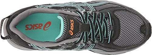ASICS Womens Gel-Venture 6 Running Shoes Black/Ice Green/Orange 5.5 B(M) US