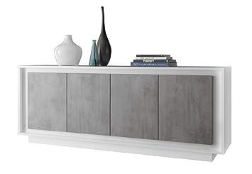 Credenza Moderna Cemento : Madia moderna monika c credenza soggiorno mobile bianco cemento