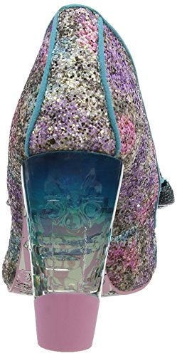 Irregular Choice Hello Ha - Tacones Mujer Multicolour (Green/Purple)