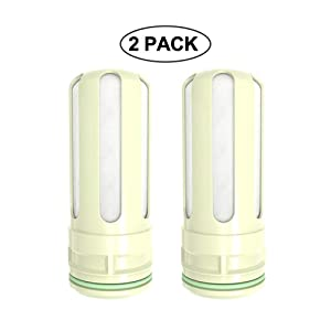 AMOYEE Stainless Steel Water Filter Cartridge Replacement, Food Grade 304 Stainless Steel Faucet Mount Filters (2 Pack)