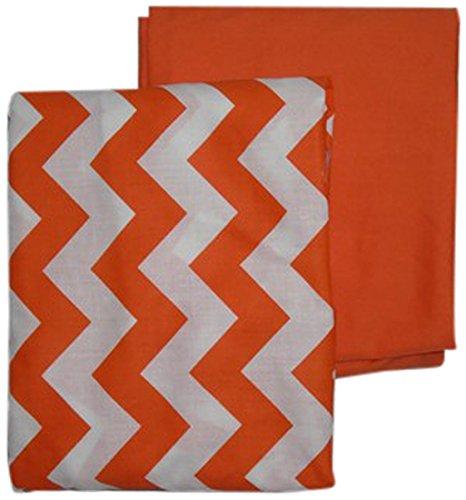 BabyDoll Chevron and Solid Crib Sheets, Orange baby doll beddin; crib sheets 705sh2