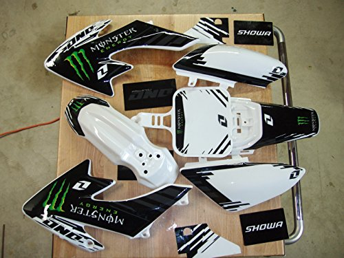 Honda crf 50 Graphics Decal with plastics White (One Industries Graphics Kits)