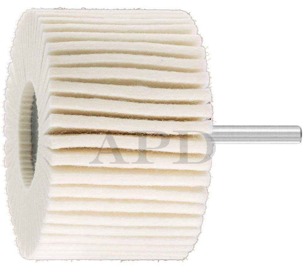 5 -PK Pfred 48550 Felt Flap Wheel 3 Inch X 1 Inch X 1/4 Inch Soft // 48550