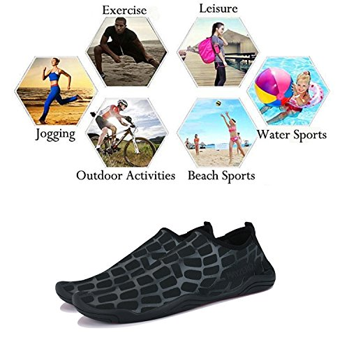 Men Running Water Swim Quick Women Shoes Pool WXDZ Barefoot black Shoes Walking Beach Dry Sports Socks Aqua 8 ZxqdFw1v