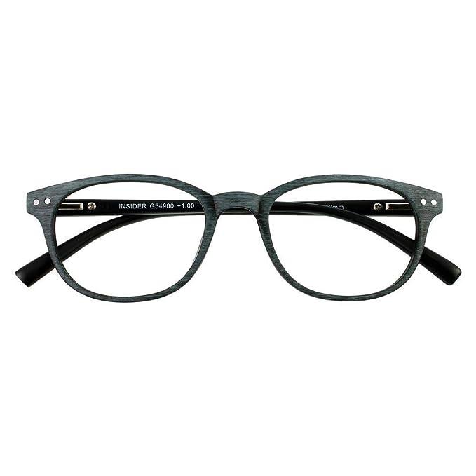 bf59a8a942 I NEED YOU anteojos de lectura Woody para Insider, Negro Marcos anteojos  para hombres y
