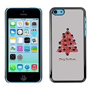 YOYO Slim PC / Aluminium Case Cover Armor Shell Portection //Christmas Holiday Tree 1278 //Apple Iphone 5C