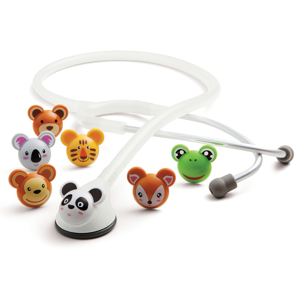ADC Adscope Adimals 618 Pediatric Stethoscope with Tunable AFD Technology, 30 inch Length, White