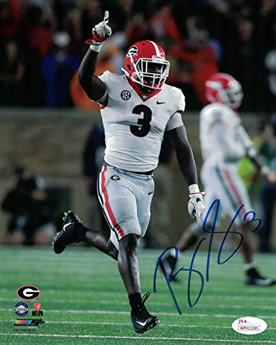 (Roquan Smith Autographed Signed Georgia Bulldogs 8x10 Photo - JSA Certified )