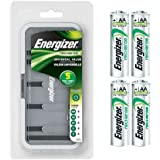 ENERGIZER CHFCV NiMH Universal Battery Charger For AA,AAA,C,D, 9V COMBO w/ 4x AA Energizer NH15 Rechargeable batteries