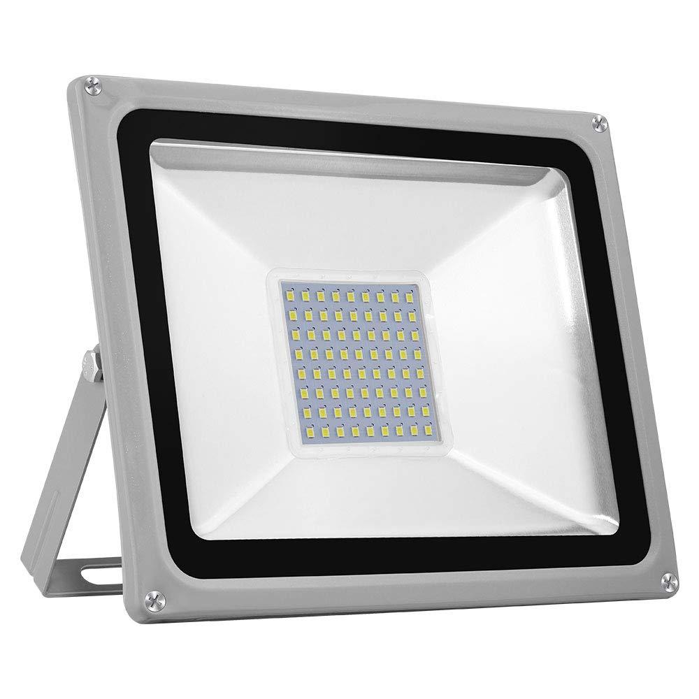 TEquem Kaltweiß LED Strahler 10W 20W 30W 50W 100W 150W 200W 300W 500W LED Wandstrahler Lampe Außenstrahler Aluminium Flutlicht Fluter 220V IP65 (30W)
