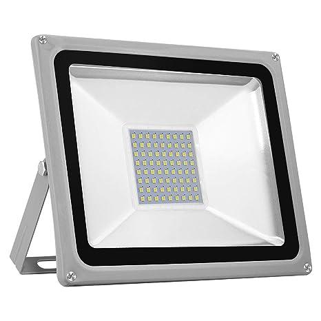 Foco Reflector Led Para Exteriores Ip65 A Prueba De Agua 50w 5000lm Cool White 6000 6500k Luces De Seguridad Superbright Para Jardín Garaje