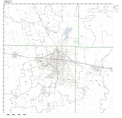 Zip Code Map Abilene Tx.Amazon Com Abilene Tx Zip Code Map Not Laminated Home Kitchen