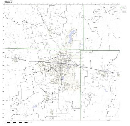 Amazon Com Abilene Tx Zip Code Map Not Laminated Home Kitchen