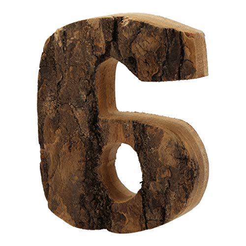 VINTRESS Natural Wooden Number Marquee Number Name Sign for Wedding Home Party (6)