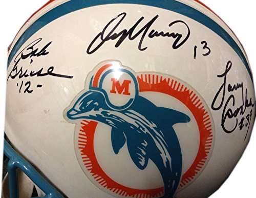 Miami Dolphins Signed Proline Helmet FS 6 Autograph HOF Legends Dan Marino Griese Czonka UDA & JSA COA