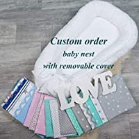 CUSTOM ORDER Baby or toddler size nest bed nest portable crib lounger baby bassinet co sleeper babynest babynest bed travel pad pod for newborn