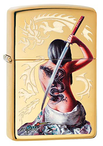 Zippo Mazzi Dragon Girl Pocket Lighter ()